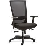 "Lorell Mesh High-back Seat Slide Chair - Fabric Seat - 5-star Base - Black - 46"" Width x 28.3"" Depth LLR54854"