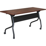"Lorell Cherry Flip Top Training Table - Rectangle Top - Four Leg Base - 4 Legs - 60"" Table Top Width LLR59516"