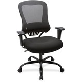 "Lorell 400 lb Capacity Mesh Back Executive Chair - Fabric, Foam Seat - Black - 23"" Width x 30.3"" Dep LLR59536"