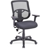 "Lorell Managerial Mid-back Chair - Fabric Seat - Black Back - 5-star Base - Black - 25.3"" Width x 23 LLR59559"