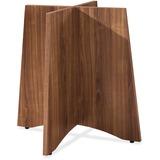 "Lorell Essentials Series Walnut Laminate Round Table - 29.5"" x 29.5"" x 28.5"" - Material: Steel - Fin LLR69991"