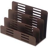 Lorell Stamped Metal 3-Tier File Sorter - 3 Tier(s) - Desktop - Bronze - Steel - 1Each LLR84250