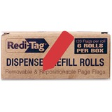 "Redi-Tag Solid Arrow Dispenser Flags - 720 x Red - 0.56"" x 1.88"" - Arrow - Red - Removable - 720 / B RTG91062"