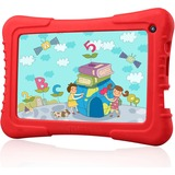 """Tablet Express Dragon Touch 7"""" Quad Core Android IPS Kids Tablet - Red - Dragon Touch 7"""" Quad Core Android Kids Tablet - Wifi and Camera and Games - HD Kids Edition w/ Zoodles Pre-Installed (2015 New Model, M7 with Blue Silicone Case)"""