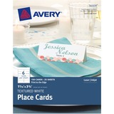 "Avery Tent Card - 3.75"" x 1.44"" - Textured - 150 / Pack - White AVE16109"