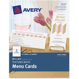 "Avery Note Card - 8.50"" x 3.66"" - Textured - 75 / Pack - White AVE16110"