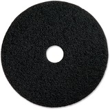 "Genuine Joe Black Floor Stripping Pad - 14"" Diameter - 5/Carton - Resin, Fiber - Black GJO90214"