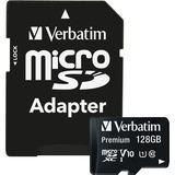 VER44085 - Verbatim 128GB Premium microSDXC Memory Card w...