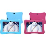 """Tablet Express Dragon Touch 7"""" Android Kids Tablets - Blue & Pink (2 Pack) - 7"""" Android Kids Tablets - PC Platform - 1.2 GHz Processor - 512 MB RAM - 8 GB - Quad Core CPU - Safe Internet - For Kids and Parents - HD Screen"""
