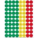"""Hygloss 1/2"""" Behavior Stickers - 1200 Face - Assorted - 1200 / Pack HYX41225"""
