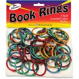 "The Pencil Grip Color Book Rings - 1"" Height x 0.1"" Width x 1"" Depth - Assorted Metallic - Steel - 5 TPG189"