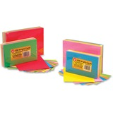 "Hygloss Bright Color Blank Note Cards - 72 Sheets - Plain - 3"" x 5"" - Assorted Paper - 1Pack HYX43510"