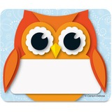 Carson-Dellosa Colorful Owl Name Tags - Learning Theme/Subject - 40 Owl - Self-adhesive - Multicolor CDP150036