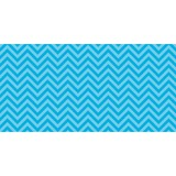 "Pacon Chic Chevron Design Bulletin Board Papers - 48"" x 12 ft - 1 Roll - Aqua PAC55828"