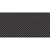 "Fadeless Classic Dots Design Bulletin Board Papers - 48"" x 12 ft - 1 Roll - Black, White - Paper PAC55848"