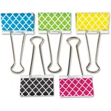 "Teacher Created Resources Moroccan Pattern Large Binder Clip - Large - 1"" Length x 2"" Width - for Cl TCR20669"