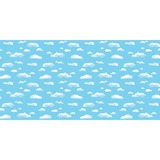 "Pacon Clouds Design Bulletin Board Papers - 48"" x 12 ft - 1 Roll - Blue, White PAC56468"