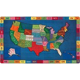 FCIFE26244A - Flagship Carpets My America Doodle Map Rug