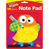"""Trend Owl-Stars Shaped Note Pads - 50 Sheets - Printed - 5"""" x 5"""" - Multicolor Paper TEP72076"""