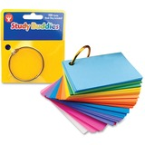 "Hygloss Bright Study Buddies Flash Cards - 100 Sheets - Ring - 2"" x 3"" - Assorted Paper - 1Pack HYX53510"