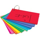 "Hygloss Bright Study Buddies Flash Cards - 100 Sheets - Ring - 3"" x 5"" - Assorted Paper - 100 / Pack HYX53512"