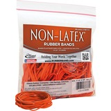 "Non-Latex Orange Rubber Bands - Size: #33 - 3.50"" Length x 0.13"" Width - Latex-free, Stretchable - 1 ALL37338"