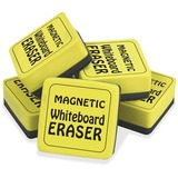 The Pencil Grip Magnetic Whiteboard Eraser - Durable, Lightweight, Soft, Magnetic - Yellow - 12 / Pa TPG355