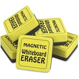 The Pencil Grip Magnetic Whiteboard Eraser Class Pack - Durable, Soft, Magnetic - Yellow - 24 / Pack TPG3552
