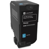 Lexmark Unison Toner Cartridge - Cyan - Laser - High Yield - 12000 Page LEX74C1HC0