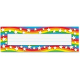 "Trend Star Rainbow Desk Toppers Name Plates - 36 / Pack - 9.5"" Width x 2.9"" Height - Rectangular Sha TEP69026"