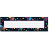 "Trend Stargazer Desk Toppers Name Plates - 36 / Pack - 9.5"" Width x 2.9"" Height - Rectangular Shape  TEP69076"