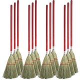 "Genuine Joe Corn Fiber Toy Broom - 24"" Length Handle - 12 / Carton - Corn Fiber, Wood Handle - Natur GJO11501CT"