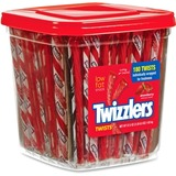 Twizzlers Strawberry Twists - Strawberry - Individually Wrapped, Reusable Container - 3.59 lb - 4 /  HRS51922CT