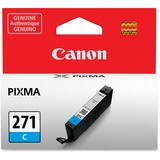 Canon CLI-271 Ink Cartridge - Cyan - Inkjet - Standard Yield - 1 / Each CNMCLI271C
