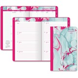 At-A-Glance Paper Marbling Tapebound Planner - Julian - Weekly, Monthly, Daily - 1 Year - January 20 AAG488200