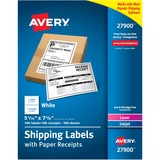 """Avery Paper Receipt White Shipping Labels - Permanent Adhesive - 100 Label(s)"""" - 5.06"""" Width x 7.62"""" AVE27900"""