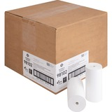 """Business Source Receipt Paper - 4.30"""" x 127 ft - 0% Recycled Content - 50 / Carton - White BSN98102"""