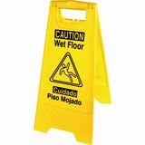 Genuine Joe Universal Graphic Wet Floor Sign - 6 / Carton - Wet Floor Print/Message - Foldable - Yel GJO85117CT