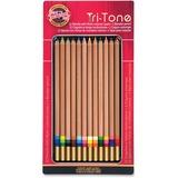 Koh-I-Noor Tri-Tone Multi-colored Pencils - Assorted Lead - 12 / Set KOHFA33TIN12BC