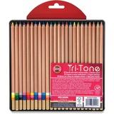 Koh-I-Noor Tri-Tone Multi-colored Pencils - Assorted Lead - 24 / Set KOHFA33TIN24BC