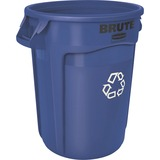 Rubbermaid Commercial Brute Round Container - 32 gal Capacity - Round - Heavy Duty, Handle, Tear Res RCP263200BE