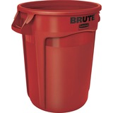 Rubbermaid Commercial Brute Round Container - 32 gal Capacity - Round - Heavy Duty, Handle, Tear Res RCP263200RD