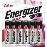 EVEE91BW12EM - Energizer MAX Alkaline AA Batteries, 12 Pack