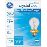 GE Energy-efficient Clear 43W A19 Bulb - 43 W - 120 V AC - 750 lm - A19 Size - Clear Light Color - E GEL78796CT