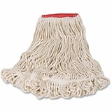 Rubbermaid Super Stitch Large Blend Mop - Cotton, Synthetic Yarn RCPD21306WH00CT