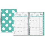 Blue Sky Small Wkly/Mthly Penelope Clear Planner - Small Size - Weekly, Monthly, Daily - 1 Year - Ja BLS18009
