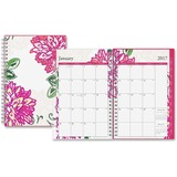 Blue Sky Dahlia Small Frosted Planner - Small Size - Weekly, Monthly, Daily - 1 Year - January till  BLS18701