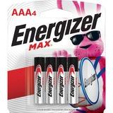 Energizer Max Alkaline AAA Batteries - AAA - Alkaline - 192 / Carton EVEE92BP4CT