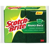 "Scotch-Brite Heavy-Duty Scrub Sponges - 2.8"" Height4.5"" Depth - 36/Carton - Green, Yellow MMM426CT"