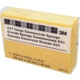 "3M Cellulose Sponge - 1.6"" Height x 6"" Width x 4.3"" Depth - 24/Carton - Cellulose, Polyurethane - Be MMMC31CT"